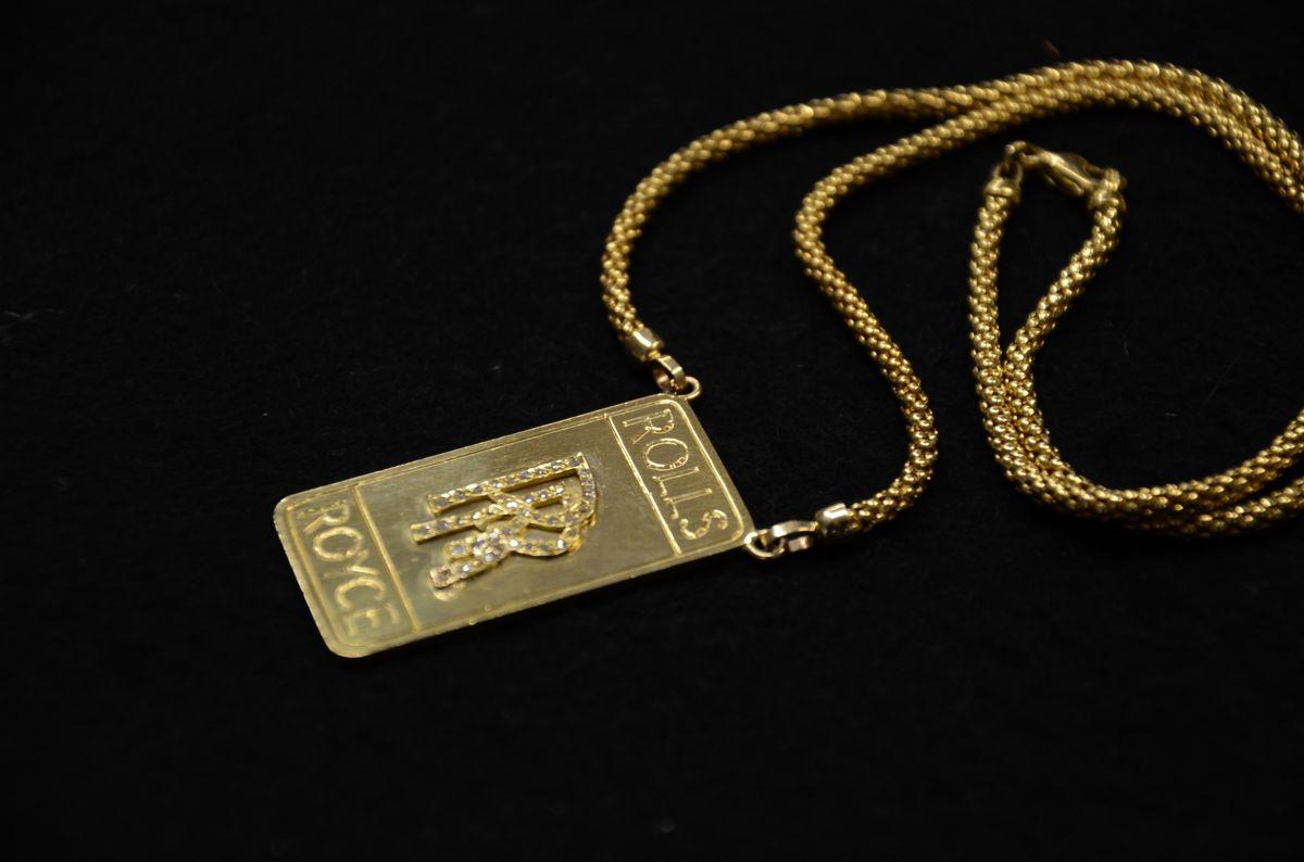 18k gold diamonds rolls royce pendant and necklace 4 images custom 18k gold diamonds rolls royce pendant aloadofball Choice Image