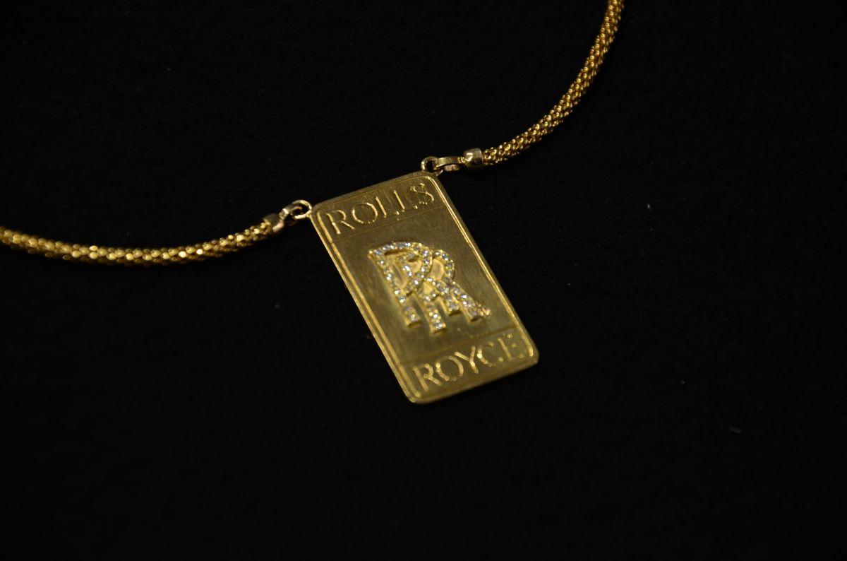 18k gold diamonds rolls royce pendant and necklace custom 18k gold diamonds rolls royce pendant and necklace aloadofball Choice Image