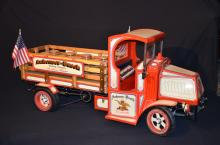 Decorative large scale model of a delivery truck of brewery Anheuser-Busch Co