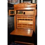 Imposing folding secretary with music box