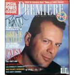Bruce Willis Autographed Premiere Cover from 1991