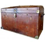 Leather Trunk with the inscription Bazar du Voyage