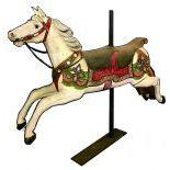 Carousel horse on pole