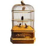 Reuge Birdcage with 3 singing birds