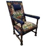 Large upholstered chair  with Gobelin tapestry