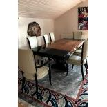 ArtDeco table and 8 chairs