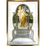 An Art Nouveau Litography Girl J.P. Krawutschke - Imago-Picta