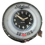 Wall Clock with label Packard Service