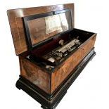 Swiss SublimeHarmony Cylinder Musical Box with zither attachment