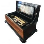 Swiss Ouverture Cylinder Musical Box with zither attachment