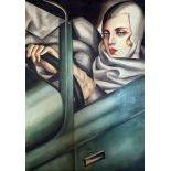 Autoportrait, after Tamara de Lempicka, ˝In the green Bugatti˝