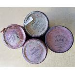 4 pieces Edisson 2 minutes wax cylinders