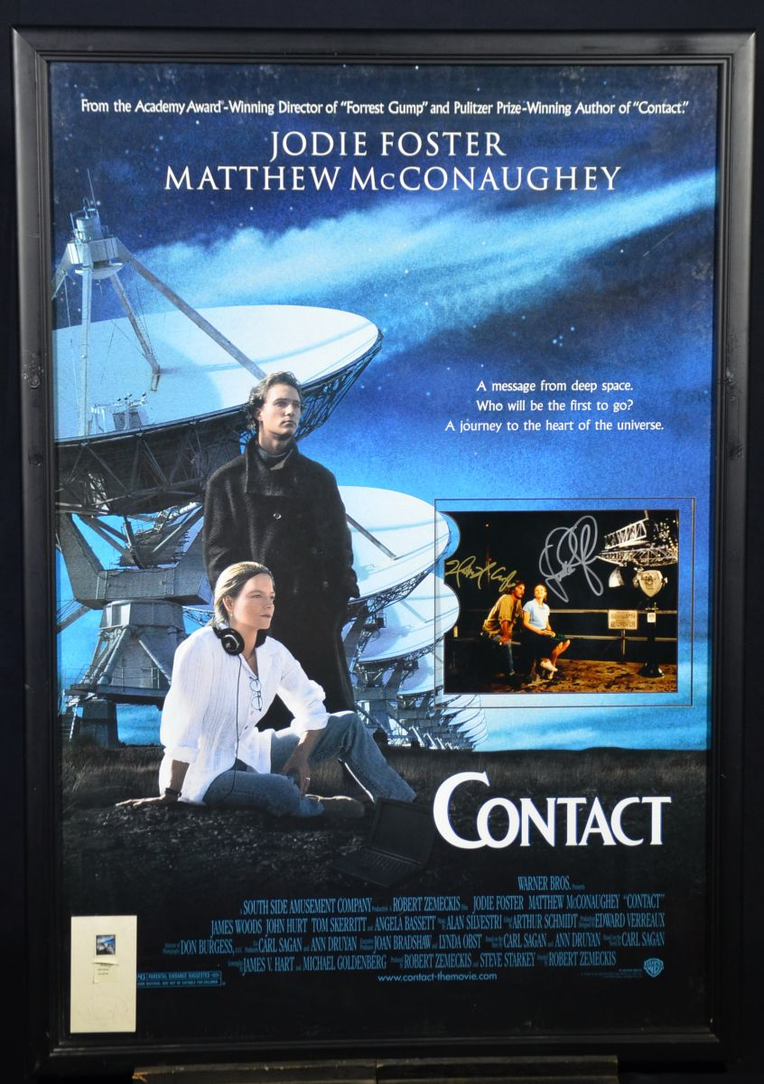 Contact 1997 With Jody Foster And Matthew Mcconaughey Hollywood Memorabilia Collage