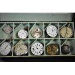 10 montres de poche, défectueuses.