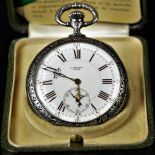 Extremely rare silver pocket watch ULYSSE NARDIN for the cantonal marksmen's festival in...