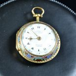 18 ct. gold pocket watch. Signed Markwitch. Made for the Turkish market. Double Markhan gold box.