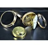 18ct gold pocket watch and Enameled double case. Bell strikes quarter-hour . Signed Larpent et...