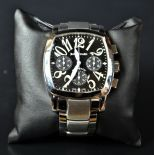 Automatic steel chronograph DANIEL JEANRICHARD. With box. New old stock.