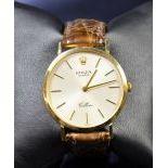 Montre-bracelet ROLEX Cellini en or, avec boîte, certificat et facture de révision du 3.9.1999.