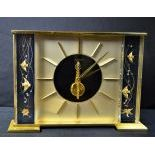 Office-table clock JAEGER LECOULTRE with 8 day mechanism. Chinese decoration on both sides,...