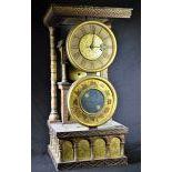 Pendule Clepsydre avec signes du zodiaque, 19ème siècle, signé P. Amchon, Palais Royal, à...