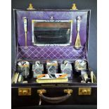 Beauty case from the company Goldsmith and Silversmith LTD London. With content in Art Deco Style....