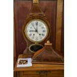 Very beautiful Neuenburger pendulum. Ca. 1890. Grand Sonnerie. Small bell strike with alarm clock....