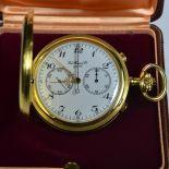 18 carat Chronograph pocket watch 160 gr