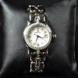 White gold wristwatch BERTOLUCCI 131 g, nacre clock face with diamonds. Ø 29mm. With purchase...