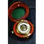 Travel-alarmclock  LES FRERES VUILLEUMIER DES REUSSILLES  in original travel case with hour and...