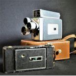 1 film camera Kodak Turret ScopeMeter and 1 Agfa rollfilm camera in original leatherbox