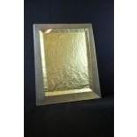 Guilloche silver mirror