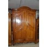 Very beautiful Cherry wood wardrobe. Style Louis XV. 230x253x78cm