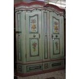 Wardrobe with 2 doors. Dated 1816. 191 x 160 x 30cm