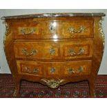 Dresser style Louis XV. Bronze key rosettes. Sized  glued marble.