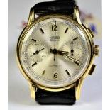 Precision-Chronograph in 18 ct gold, Diameter 36 mm. In good condition from the 40th