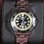 Automatic chronometer BREITLING Superocean. With leather wristband for replacement. With box and...