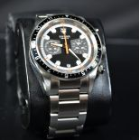 Automatic Chronograph TUDOR, completely made of steel. With calendar. Ø 44mm. With replacement...