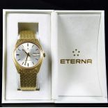 All 18ct gold wristwatch ETERNA Matic 3000. Automatic. Day Date. With box.