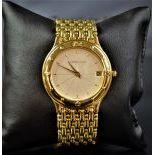 18ct gold wristwatch AUDEMARS PIGUET. Quartz movement, calendar. Ø 34mm. No C-41430.
