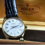 18 ct gold wristwatch ROLEX Oyster Perpetual Chronometer. Original buckle. Diameter 34mm