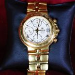Automatic chronograph RAYMON WEIL, completely made of 18ct gold 185 g. Calendar. Ø 39mm.