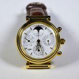 Montre en or 18ct IWC DA VINCI, chronographe perpétuel automatic. Bracelet de rechange. Boîte...