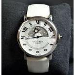 Wristwatch CARTIER White gold retrograde. With original folding clasp mechanism. Ø 42mm. With box...