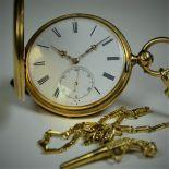 18ct gold savonette  pocket watch. Guilloche case. Anchor escapement. Ca. the 1830s. Perfect...