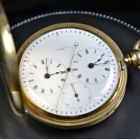 18ct gold savonette pocket watch Small second on 6 h. Signed Delachaux. No.12848 Very good condition...