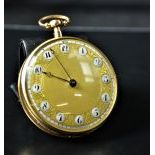 Pocket watch with hour and quarter repetition. With music on request and on the way. Signed Moricaud...