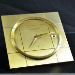 Table clock Jaeger Lecoultre. 8 day mechanism, calendar. Good condition. 70s