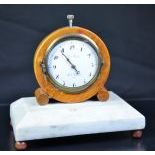 Desk clock with minute repetition CHARLES MARTINE HORLOGER DU ROY from Turin. No. 16593. Very good...