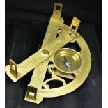 Brass graphometer . 18th century. Signed Briere Paris 250 x 130 mm with compass, richly decorated....